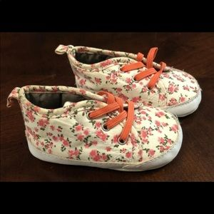 Carters Floral Slip On Shoes Size 3-6 Month